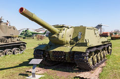 Soviet self-propelled artillery gun ISU-152 Royalty Free Stock Images
