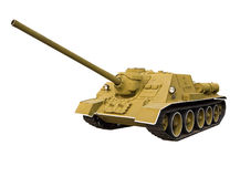 Soviet self-propelled gun royalty free stock photo