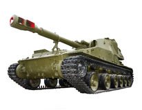 Soviet self-propelled howitzer artillery unit Stock Photo