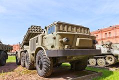 Soviet self-propelled rocket launcher system BM-27 Uragan Royalty Free Stock Photography