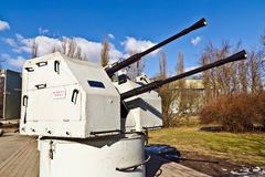 Soviet shipboard artillery mount 2M-3M Stock Photos