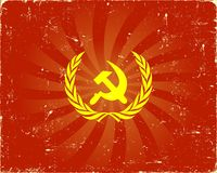 Soviet sign background Stock Images