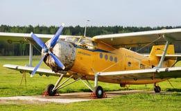 Soviet single-engine biplane Royalty Free Stock Image