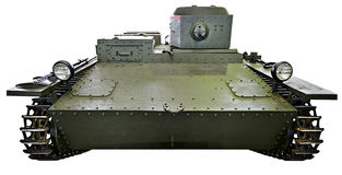 Soviet small amphibious tank T-38  isolated Stock Photography
