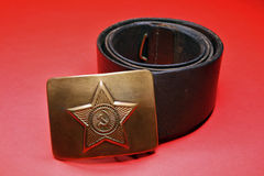 Soviet soldier belt Royalty Free Stock Image