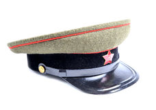 Soviet soldier cap Royalty Free Stock Image