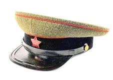 Soviet soldier cap Stock Photo
