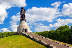 Soviet soldier monument at Treptow park, Berlin, Germany Stock Image