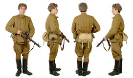 Soviet soldier in wwii Royalty Free Stock Photos