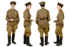 Soviet soldier in wwii Royalty Free Stock Photo