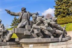 Soviet Soldiers Attacking World War 2 Monument Kiev Ukraine Royalty Free Stock Photo