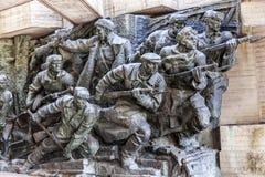Soviet Soldiers Attacking World War 2 Monument Kiev Ukraine Royalty Free Stock Photos
