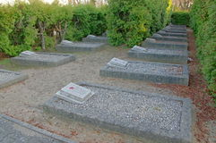 Soviet soldiers' cemetery. Royalty Free Stock Photography