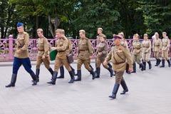 Soviet soldiers Stock Photos