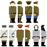 Soviet soldiers since the 2nd World War Stock Images