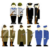 Soviet soldiers since the 2nd World War-1 Royalty Free Stock Image