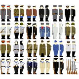 Soviet soldiers and weapons since the second World War Stock Image