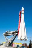 Soviet Space launch vehicle Vostock in VDNKh exhibition. Royalty Free Stock Photos