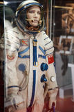 The Soviet  spacesuit with symbolics of USSR. MOSCOW, RUSSIA - NOVEMBER 8: Astronautics museum. The Soviet  spacesuit with symbolics of USSR. November 8, 2009 in Royalty Free Stock Photo