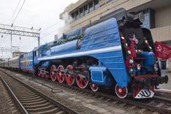 Soviet-speed passenger steam locomotive Stock Photography