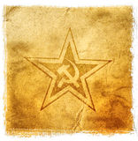 Soviet star hammer and sickle. Soviet Union symbol hammer and sicklee royalty free stock image