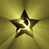 Soviet star symbol sun light flare Stock Photography