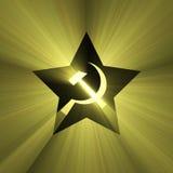 Soviet star symbol sun light flare Stock Photography