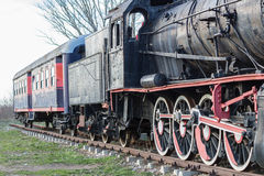 Soviet steam locomotive stands Stock Photo