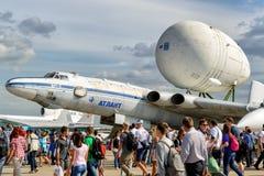 The Soviet strategic-airlift airplane Myasishchev VM-T Atlant Royalty Free Stock Images