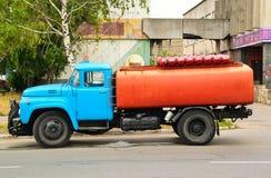 Soviet street sprinkle zil-130 Stock Images