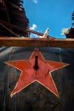 Soviet symbol on a metal background Stock Photo