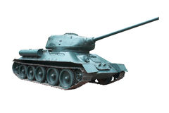 Soviet tank. T-34 . Weapons of Victory, The best medium tank of World War II Stock Photos