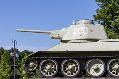 Soviet tank in Berlin Stock Image
