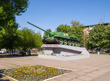 Soviet tank destroyer SU-100. Monument. Royalty Free Stock Photo