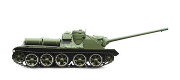 Soviet tank. Image of a tank made by the Soviet Union, white background image alone. Profile picture Royalty Free Stock Photo