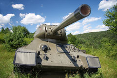 Soviet tank model t34. Second world war. Soviet tank model t34. Second world war in Svidnik, Slovakia Royalty Free Stock Photos
