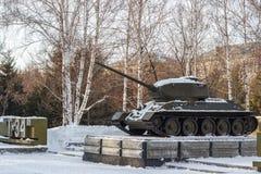Soviet tank a monument Stock Photography