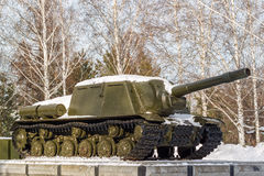 Soviet tank a monument Royalty Free Stock Photos