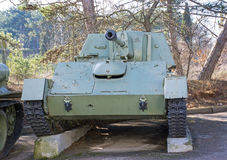 Soviet tank of period of the second world war Stock Image