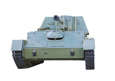Soviet tank of period of the second world war. On white background Stock Photos