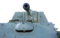 Soviet tank of period of the second world war. On white background Stock Photo