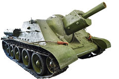 Soviet tank Self-propelled artillery SU-122 1942 isolated Stock Image