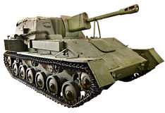 Soviet tank Self-propelled artillery SU-76M isolated Royalty Free Stock Image