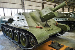 Soviet tank Self-propelled artillery SU-122 1942 Stock Images