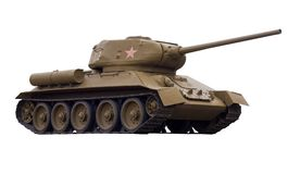 The Soviet tank T-34-85 Stock Photos