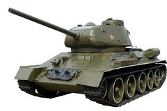 Soviet tank T-34-85 of the world war II Royalty Free Stock Photography