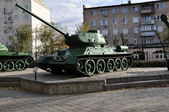 Soviet tank T34. City of Orenburg, Southern Ural, Russia Stock Image