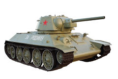 Soviet tank T-34 isolated on white background Royalty Free Stock Image