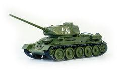 Soviet tank T34. Model of the tank T-34 on a white background Royalty Free Stock Photography