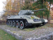 Soviet tank T-34 Royalty Free Stock Images